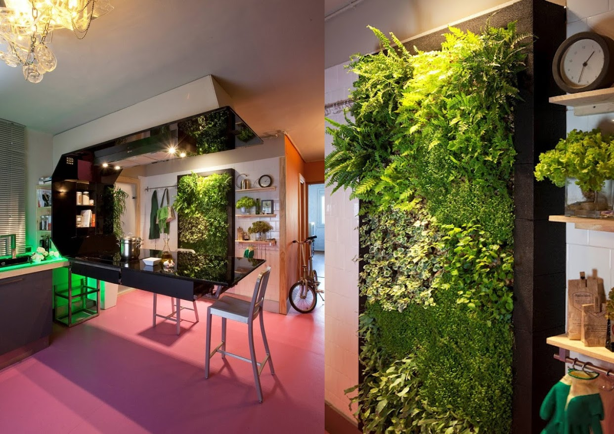 Jardines verticales para interiores macrobonsai olivos - Jardin vertical en casa ...